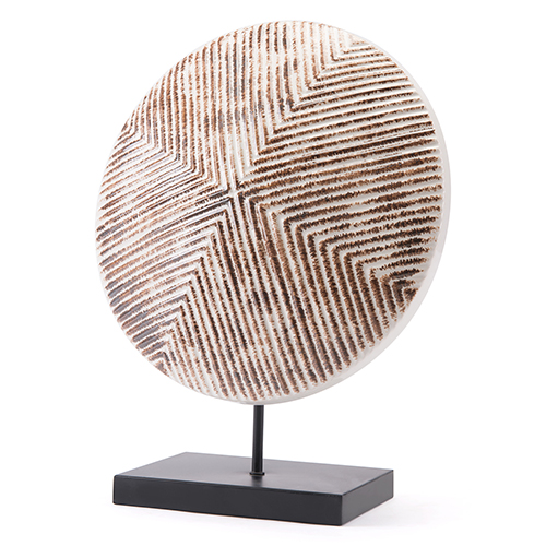 Zuo Modern Contemporary Toba Figurine Large White and Brown