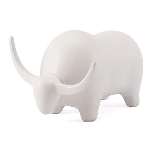 Zuo Modern Contemporary Bull White Matt White