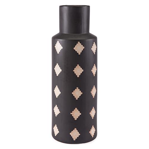 Pampa Bottle Large Black and Beige