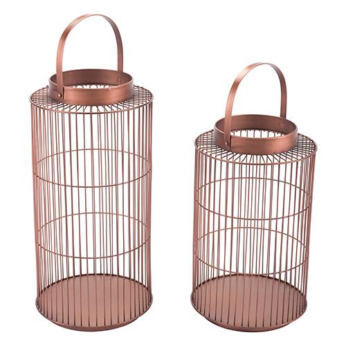 Zuo Modern Contemporary Set of 2 Metal Lanterns Bronze