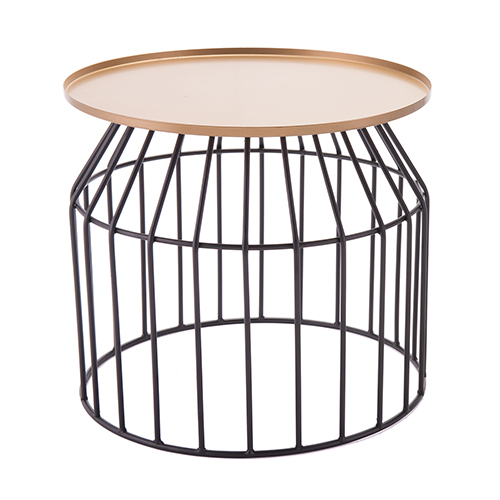 Zuo Modern Contemporary Tray End Table Large Gold and Black