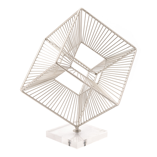 Zuo Modern Contemporary Cuadrado Figurine Silver