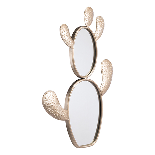 Cactus Mirror Champagne Gold