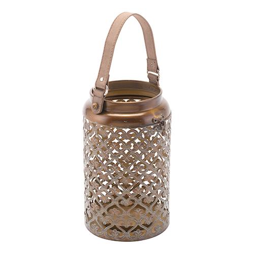 Moroccan Lantern Small Distressed Copper