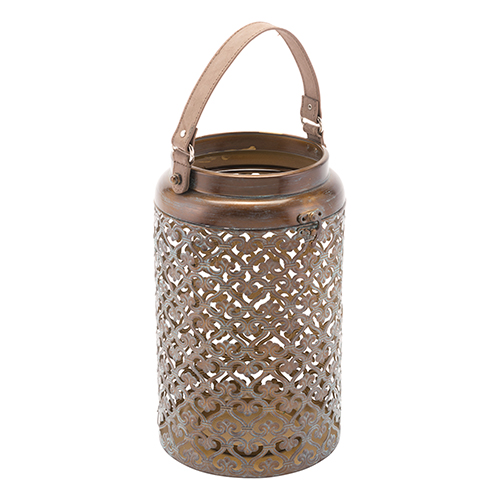 Moroccan Lantern Large Distressed Copper