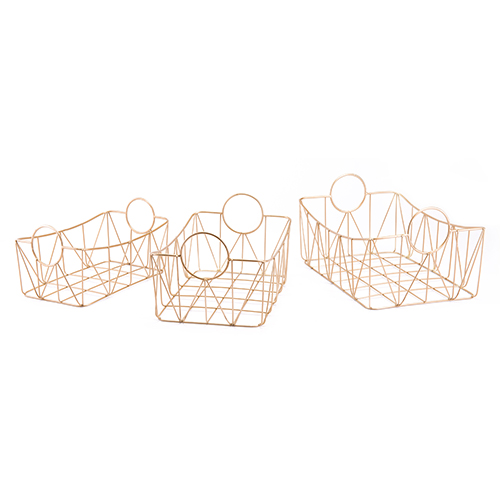 Zuo Modern Contemporary Set of 3 Trays Gold Gold