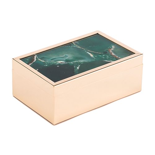 Zuo Modern Contemporary Green Stone Box Small Green