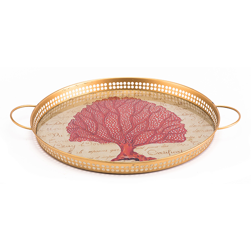 Red Coral Tray Red