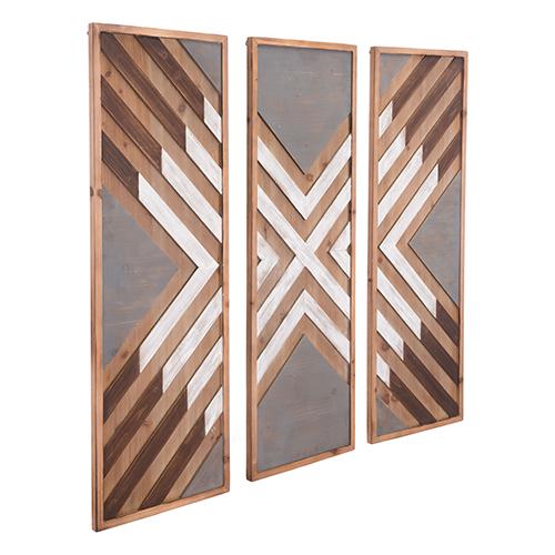 Corners Set of 3 Wall Decor Brown