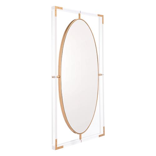 Lucite Rectangular Mirror Clear