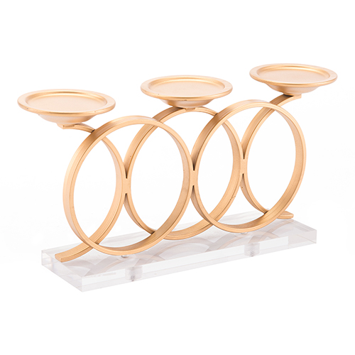Infinity Candle Holder Gold