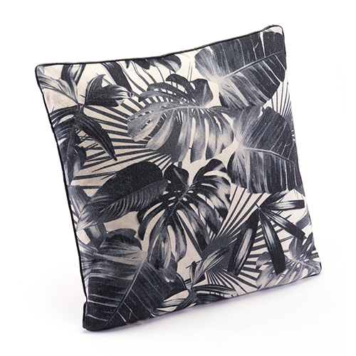 Zuo Modern Contemporary Black Jungle Pillow Black and Beige
