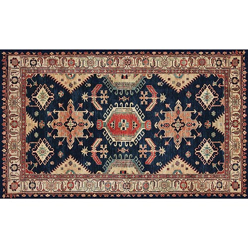 Ruggable Washable Indoor/Outdoor Stain Resistant Sapphire Rectangular: 3 Ft. x 5 Ft. Rug Set
