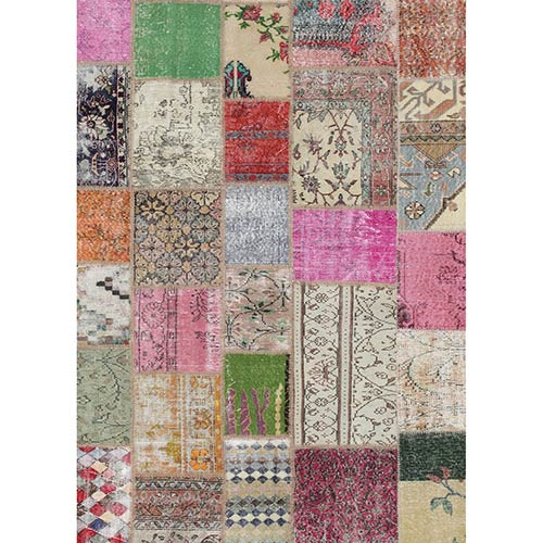 Washable Indoor/Outdoor Stain Resistant Boho Rectangular: 5 Ft. x 7 Ft. Rug Set