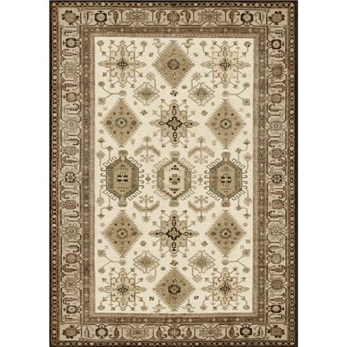Washable Indoor/Outdoor Stain Resistant Taupe Rectangular: 5 Ft. x 7 Ft. Rug Set