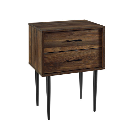 Dark Walnut Modern Side Table