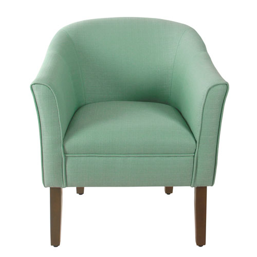 Modern Barrel Textured Aqua Accent Chair