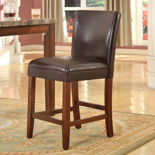 Meadow Lane 24-inch  Faux Leather Barstool