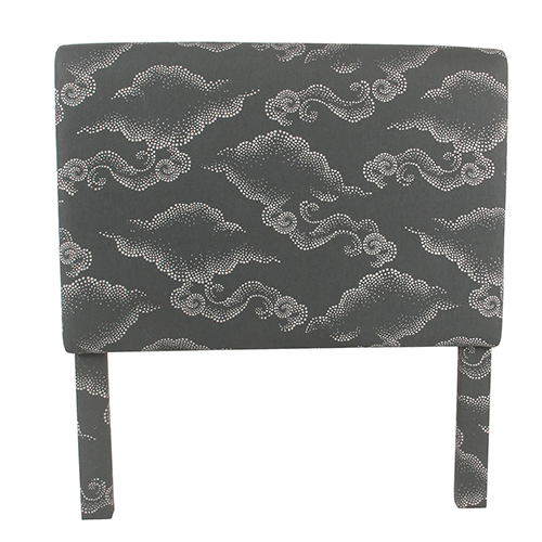 Gray Clouds Twin Headboard