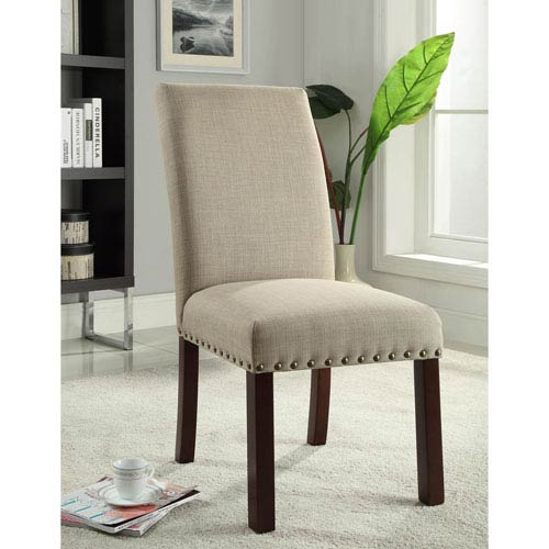 Parsons Chair, Textured Tan, Set of Two