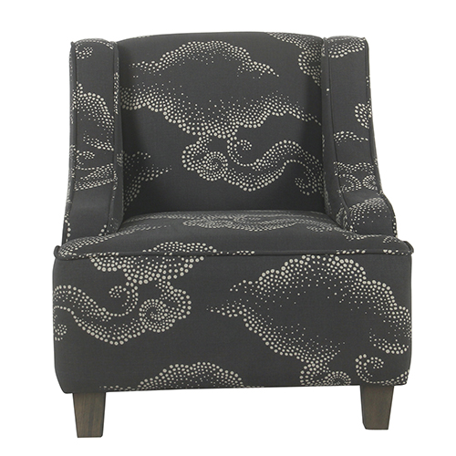 Kids Gray Clouds Swoop Chair