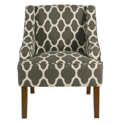 Classic Swoop Arm Chair - Gray Geometric