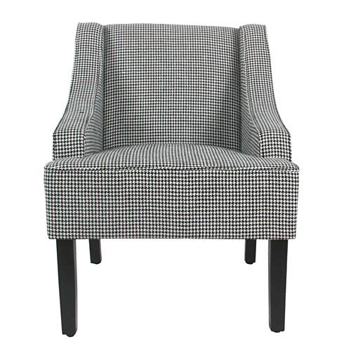 Classic Swoop Accent Chair - Ebony Houndstooth