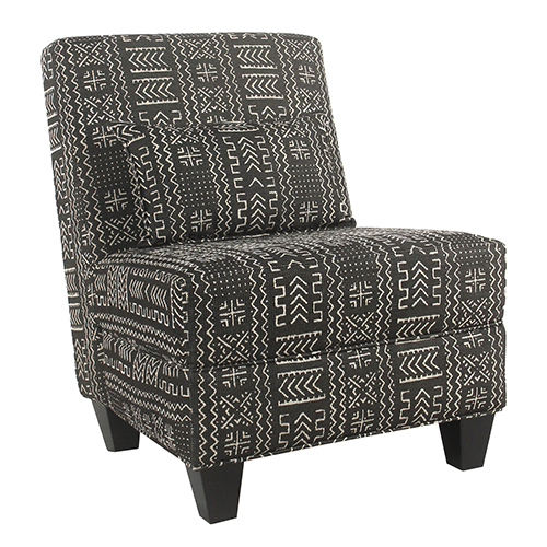 Large Slipper Global Black Accent Chair