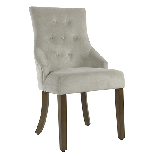 Meadow Lane Tufted Dove Gray Dining Chair
