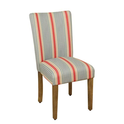Meadow Lane Parsons Chair, Red and Blue