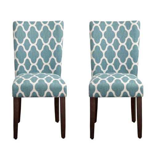 Parsons Chair, Teal Blue, Set of Two