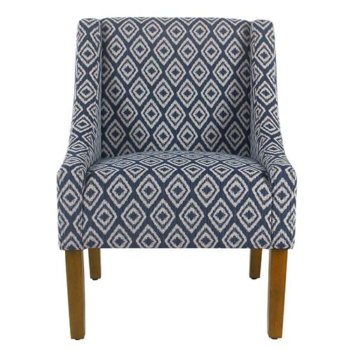 Modern Swoop Indigo Accent Chair