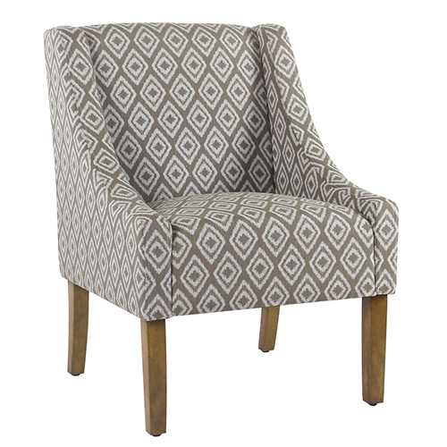 Modern Swoop River Rock Brown Accent Chair