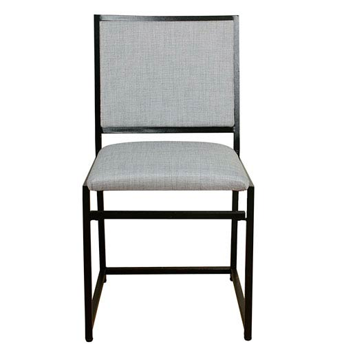 Meadow Lane Industrial Metal Dining Chair - Dove