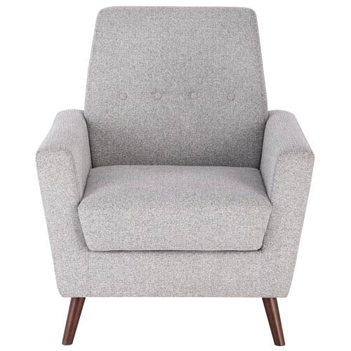 Tufted Mid Mod Accent Chair - Gray