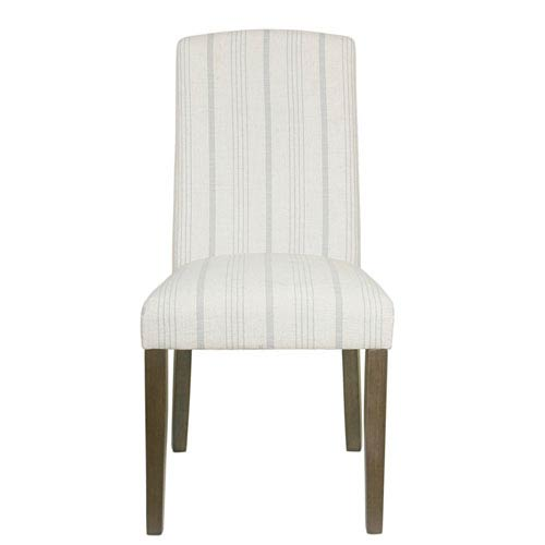 Meadow Lane Classic Parsons Dining Chair - Dove Grey Stripe (Set of 2)