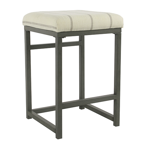 Industrial Wicker Gray Counter Stool
