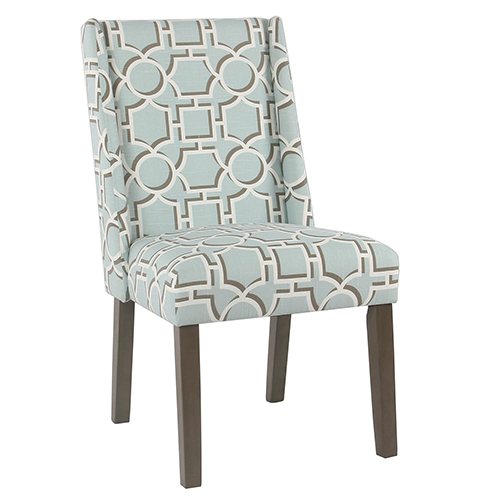 Meadow Lane Modern Aqua Lattice Dining Chair - Set of 2