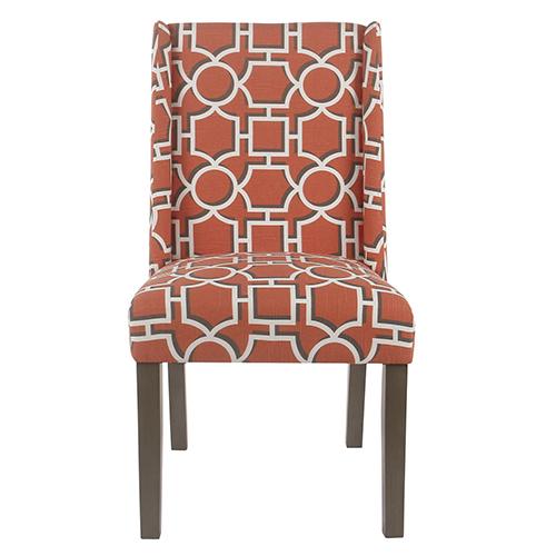 Modern Persimmon Lattice Dining Chair - Set of 2