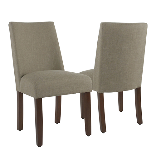 Tan Dining Chair with Tacks - Set of 2