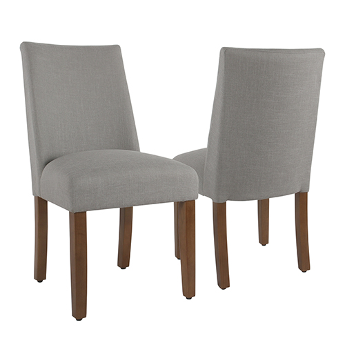 Meadow Lane Silver Dining Chair with Tacks - Set of 2