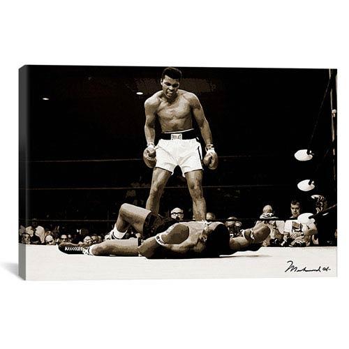 iCanvas Muhammad Ali Vs. Sonny Liston, 1965 by Unknown Artist: 26 x 18-Inch Canvas Print