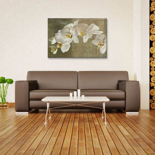 iCanvas Painted Orchid by Symposium Design: 26 x 18-Inch Canvas Print