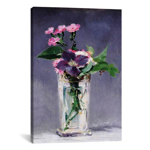 iCanvas Ragged Robins and Clematis by Edouard Manet: 26 x 40-Inch Canvas Print