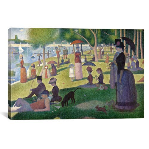iCanvas Sunday Afternoon on the Island of La Grande Jatte by Georges Seurat: 26 x 18-Inch Canvas Print