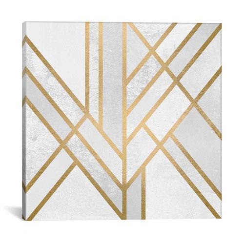 iCanvas Art Deco Geometry II by Elisabeth Fredriksson: 26 x 26-Inch Canvas Print