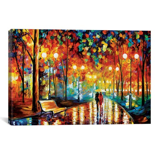 Rains Rustle II by Leonid Afremov: 40 x 26-Inch Canvas Print