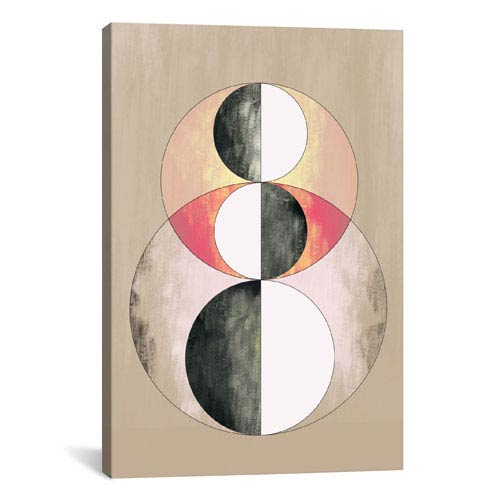 iCanvas Geometric Prism, After Delaunay by 5by5collective: 18 x 26-Inch Canvas Print