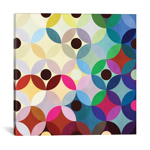 iCanvas Circular Motion by 5by5collective: 26 x 26-Inch Canvas Print