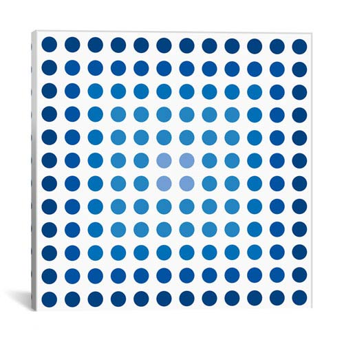 iCanvas Faded Navy Dots by 5by5collective: 26 x 26-Inch Canvas Print